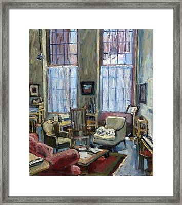 Studio Dog Winter Framed Print by Thor Wickstrom