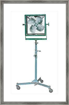 Studio Electric Fan Framed Print by Atiketta Sangasaeng