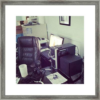 Studio Is Almost Operational Again Framed Print