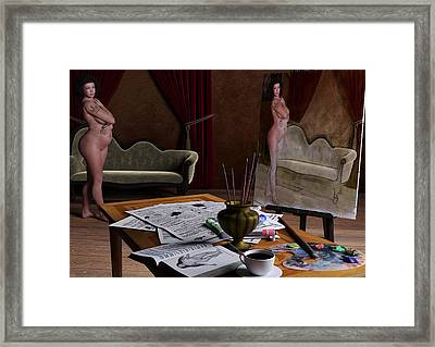 Studio Life Framed Print by Maynard Ellis