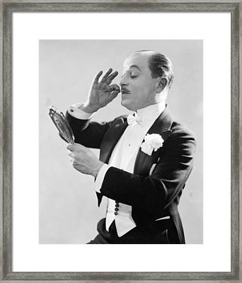 Studio Portrait: Actor. Photograph, Early To Mid 20th Century Framed Print