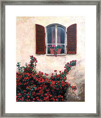 Framed Print featuring the painting Studio Window by Tom Roderick