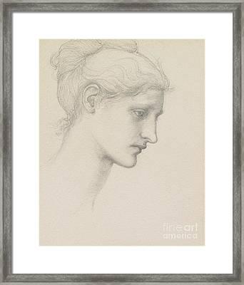 Study For Laus Veneria Framed Print