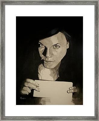 Study For Simone Spiteri Framed Print