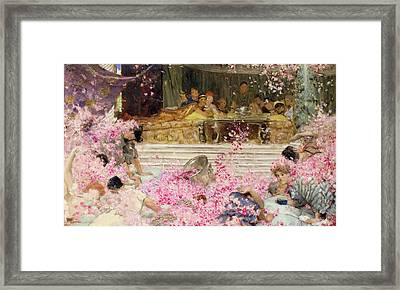 Study For The Roses Of Heliogabulus Framed Print by Sir Lawrence Alma-Tadema