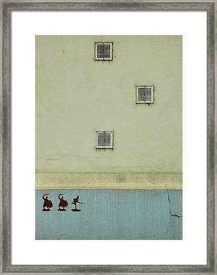 Study In Blue And Yellow Framed Print