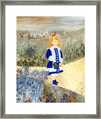 Study In Two Colors Framed Print by Edie Schmoll