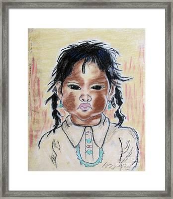 Study Of A Navajo Child Framed Print