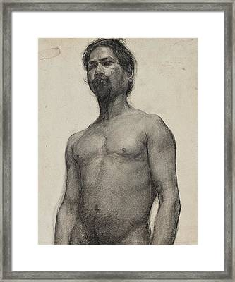 Study Of A Negro Man Framed Print