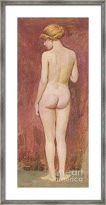 Study Of A Nude Framed Print by Murray Bladon