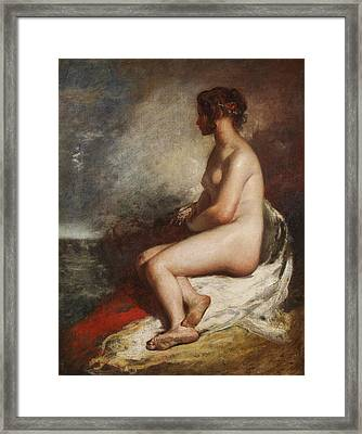 Study Of A Seated Nude Framed Print by William Etty