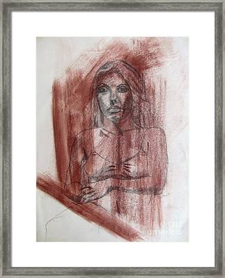 Study Of A Woman Framed Print