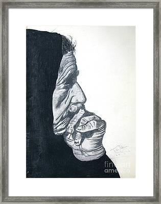 Study Of Mother Teresa Framed Print