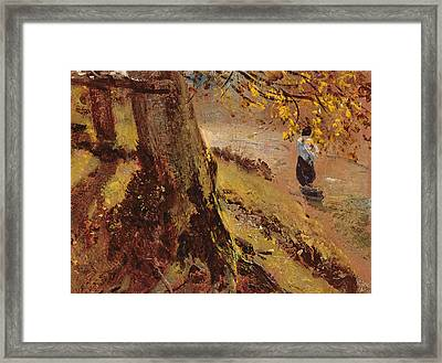Study Of Tree Trunks Framed Print by John Constable