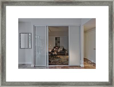 Study With Open Door Framed Print
