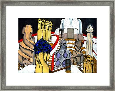 Studying Gaudi Framed Print