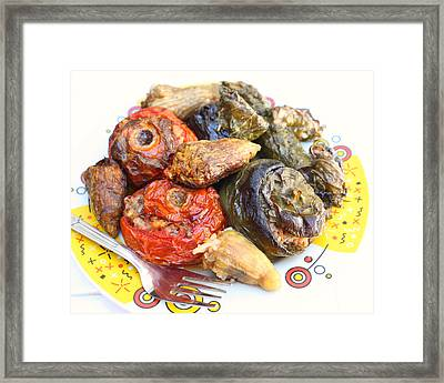 Stuffed Veg Three Quarters View Framed Print by Paul Cowan