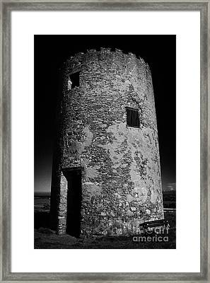Stump Remains Of Portaferry Windmill On Windmill Hill Portaferry Ards Peninsula County Down  Framed Print by Joe Fox