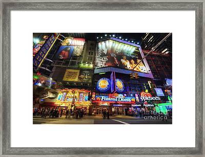 Stunning Lights Of 42nd Street  Framed Print