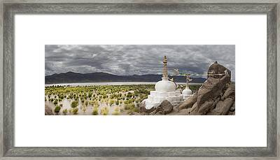 Stupas And Small Shrines Framed Print by Phil Borges