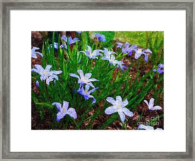 Styling In Blue Framed Print by Nancie DeMellia
