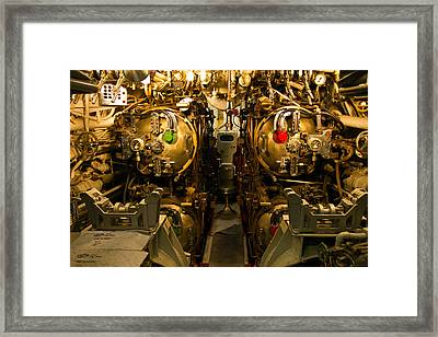 Sub Controls Framed Print by Rick Mann