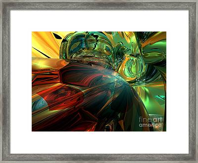 Subdued Strength Abstract Framed Print by Alexander Butler