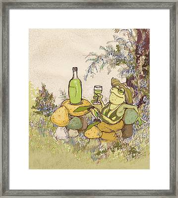Sublime Chablis Framed Print by Peggy Wilson