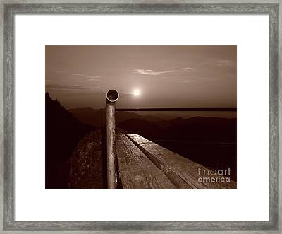 Submarine On The Mountain Framed Print by Bruno Santoro