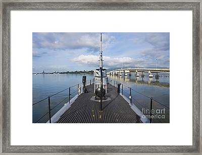 Submarine Surface Deck Framed Print by Rob Tilley