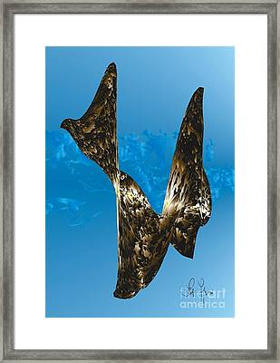 Framed Print featuring the digital art Substance And Space 1 by Leo Symon