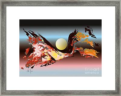Framed Print featuring the digital art Substance And Space 2 by Leo Symon