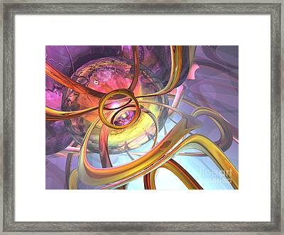 Subtlety Abstract Framed Print by Alexander Butler