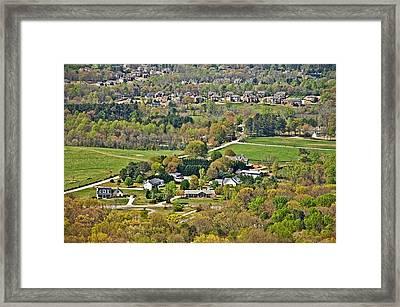 Suburban Landscape Framed Print by Susan Leggett