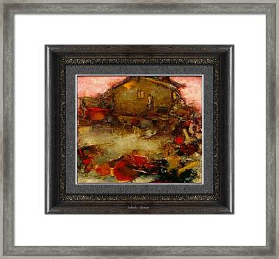 Framed Print featuring the painting Suburbs by Pemaro