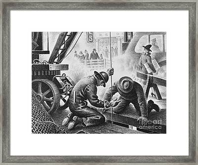 Subway Construction, C. 1930 Framed Print