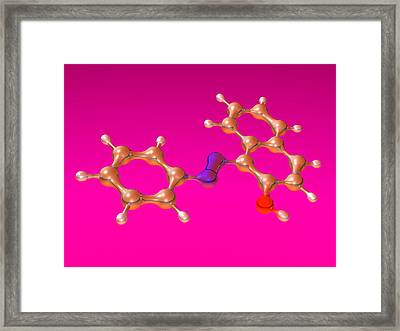 Sudan 1 Molecule Framed Print by Dr Mark J. Winter