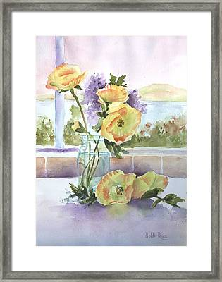 Sue's Poppies Framed Print by Bobbi Price