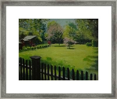 Sue's Yard Framed Print by Mark Haley