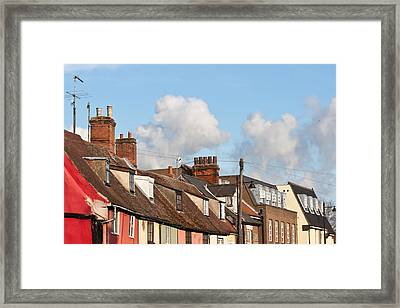 Suffolk Rooftops Framed Print by Tom Gowanlock