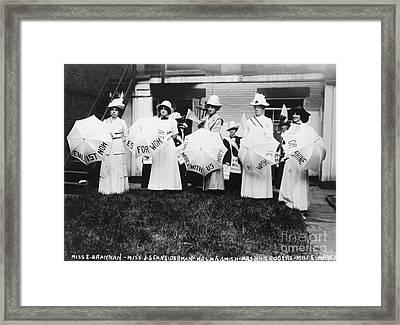 Suffragettes, 1912 Framed Print