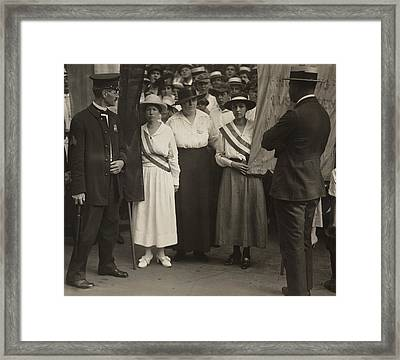 Suffragists Catherine Flanagan Left Framed Print