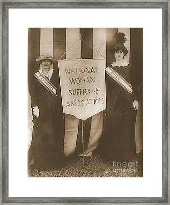 Suffragists Mrs. Mccormick And Mrs. Parker Framed Print