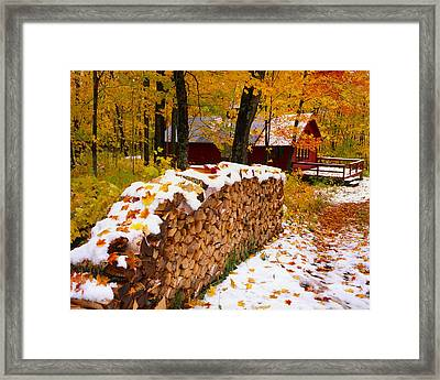 Sugar Cabin, Saint-ferreol-les-neiges Framed Print by Yves Marcoux
