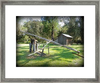 Sugar Cane Grinder Framed Print by Sheri McLeroy