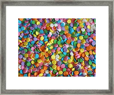 Sugar Confetti Framed Print by Methune Hively