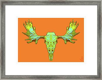 Sugar Moose Framed Print by Nelson Dedos Garcia