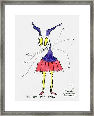 Sugar Plum Fairy Framed Print by Tis Art