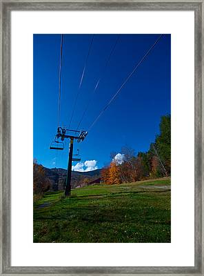 Sugarbush Chairlift Framed Print by Mike Horvath