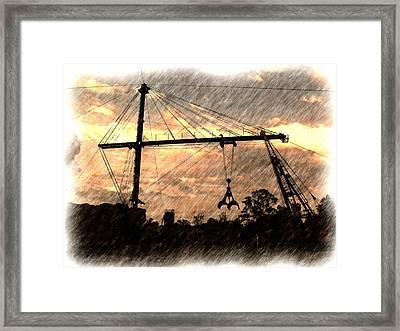 Sugarcane Derick Framed Print by Ronald Olivier